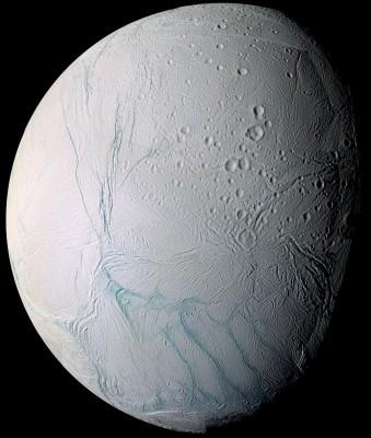 ENCELADO - foto in falsi colori fatta dalla sonda Cassini