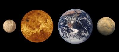 Mercurio             Venere                    Terra                    Marte