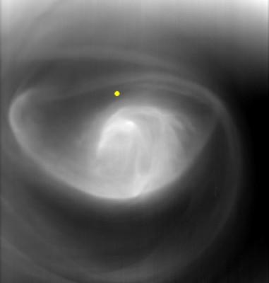 Uragano su Venere - foto della sonda VENUS EXPRESS (ESA copyright)