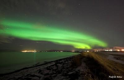 Aurora boreale a Rejkyavik