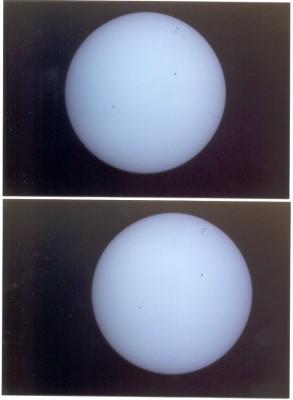 Foto personale - il Sole fotografato il 14 luglio 2004