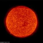 Il Sole Fotografato da SOHO il 12 luglio 2008