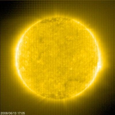 Il sole fotografato il 13 giugno 2008