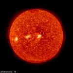 il sole fotografato il 30 marzo 2008