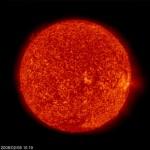 Il Sole fotografato da SOHO il 9 febbraio 2008