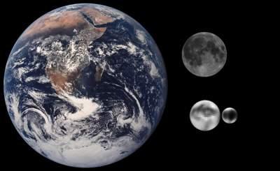 Raffronto fra il sistema Terra/Luna e il sistema Plutone/Caronte