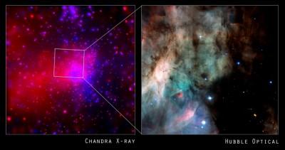 HUBBLE e CHANDRA fotografano la nebulosa M17