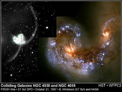 Cannibalismo galattico NGC4038 e NGC 4039