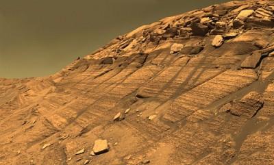 Burns Cliff nel cratere Endurrance fotografato dalla Opportunity