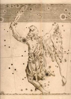 Uranometria - immagine della costellazione di ORIONE