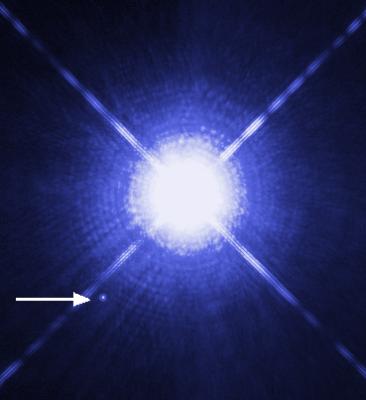 Sirio A e B fotografate da Hubble nel visibile