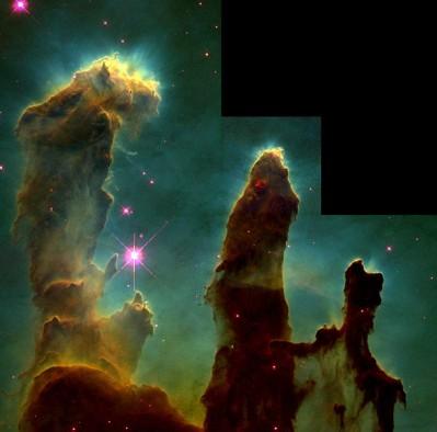 Nebulosa dellAquila - dettaglio sulle colonne