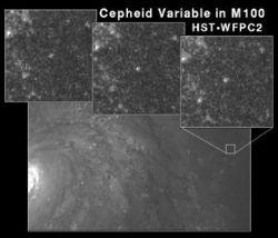 Galassia M 100 - Hubble fotografa una variabile Cefeide a 52 milioni di anni luce