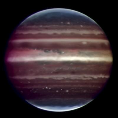 Giove fotografato da Terra nellottobre 2008 con una tecnica innovativa ed estremamente precisa - credits: ESO