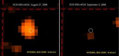 Magnetar SGR 05014516 - crediti ESA/INTEGRAL IBIS - SIGRI