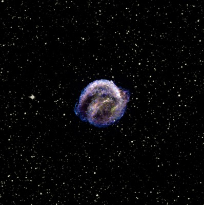 Resto della supernova di Keplero - mix di immagini nell'ottico e a raggi X