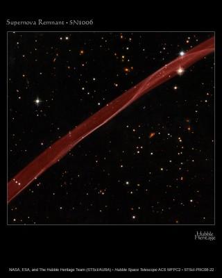 SN 1006 - Resto di supernova ripreso da Hubble