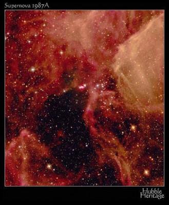 SN 1987a resto di supernova al centro dell'immagine