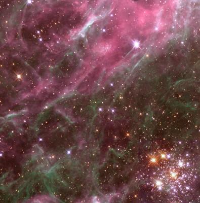 Hodge 301 ammasso aperto nel Doradus - eta stimata 25 milioni di anni - distanza in anni luce 168