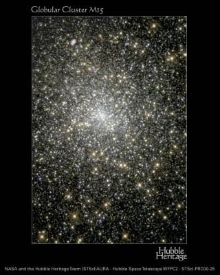 M15 nelal costellazione del Pegaso - al suo interno e stata scoperta una doppia sorgente di raggi X