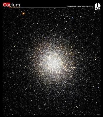 L'ammasso globulare M22 nella costellazione del Sagittario