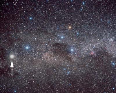 Alfa Centauri indicata con la freccia