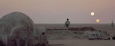 Ipotetico tramonto nel sistema di Achernar - Qualcuno ricorda le sequenza di questo film?