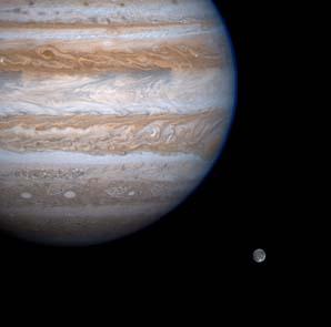 Giove e il suo satellite Ganimede
