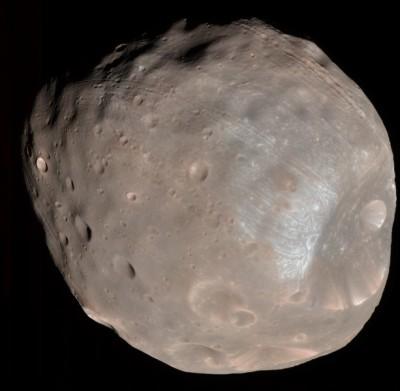 Il satellite Phobos a colori - Credits ESA