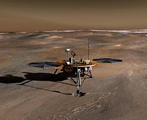 Rappresentazione 3D del rover Phoenix
