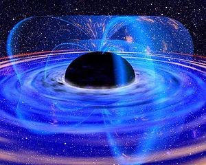 Rappresentazione artistica di un buco nero - Copyright degi aventi diritto