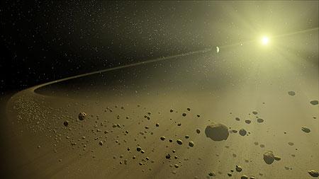 Disegno artistico di una disco proto-planetario