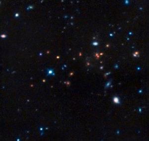 L'ammasso di galassie CL J1449+0856 - Credits: Hubble/NASA