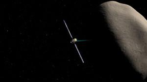 rappresentazione artistica di Dawn in avvicinamento a Vesta - Credits McREL/NASA