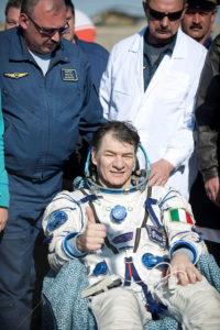 TMA 20 - Paolo nespoli dopo l'atterraggio - Credits: NASA