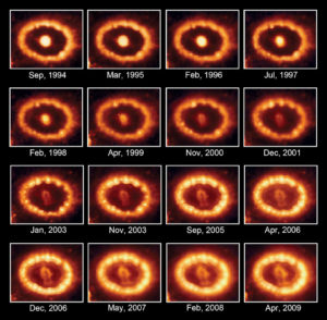 SN 1897A dal 1994 al 2009 - credits: Hubble/NASA