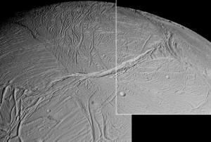 Encelado ripreso dalla Cassini - Credits: NASA/JPL