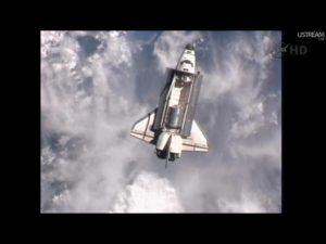 STS 135 Atlantis Rendezvous Pitch Maneuver - Credits: NASA tv