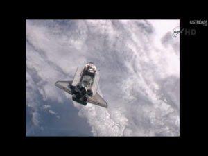 STS 135 Atlantis Rendezvous Pitch Maneuver - Credits: NASAtv