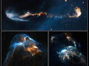 Oggetti HH 47, HH 34 e HH 2 - Credits: NASA/ESA