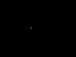 Terra e Luna viste dalla sonda Juno a 9.66 km di distanza - Credits: NASA-JPL Caltech