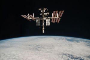 La Stazione Spaziale Internazionale. foto scattata dal Paolo Nespoli durante il volo di rientro - Credits: NASA/ESA