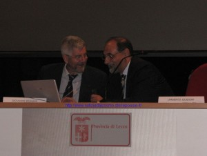 Giovanni Bgnami e Umberto Guidoni all'incontro lecchese