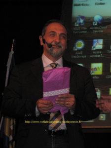 Umberto Guidoni in uno dei momenti della conferenza del 19 settembre 2011