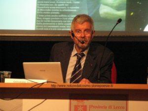Giovanni Bignami durante la conferenza del 19 settembre 2011