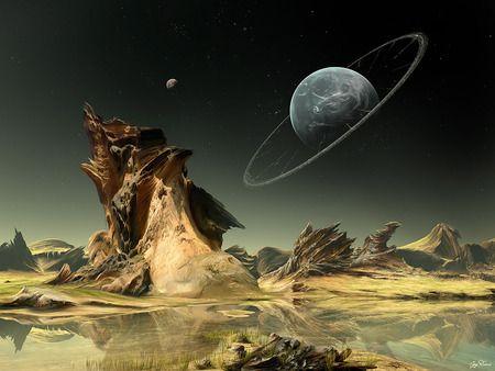 Riproduzione artistica della visione da un pianeta extrasolare.