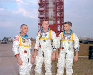 Da sinistra a destra Grissom, White e Chaffee - Credits: NASA