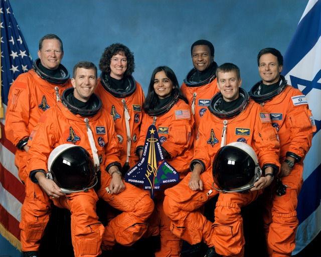 L'equipaggio della STS 107 Shuttle Columbia - Credits: NASA
