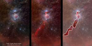Nebulosa di Orione (M 42) -  Una mappa della densità stellare nella regione della Nebulosa di Orione - Credits: J. Alves & H. Bouy