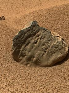 Marte - Un'immagine in dettaglio di una roccia marziana scattata da Curiosity - Credits: NASA-JPL-Caltech-MSSS